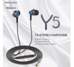 Audífonos Con Cable Y5 Stereo Azul Rock Space