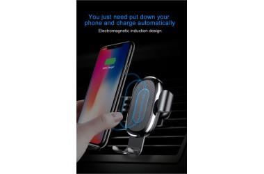 Cargador Inalámbrico Grabity Carga Rápida con Soporte Auto Ears Negro Baseus